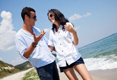 Couple Beach Summer Royalty Free Stock Photography