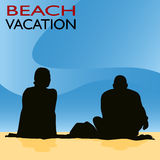 Couple Beach Vacation Royalty Free Stock Images