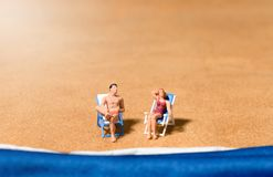 Couple beach vacation concept Royalty Free Stock Images