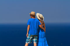 Couple on the beach vacation Royalty Free Stock Image