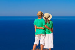 Couple on the beach vacation Royalty Free Stock Photos