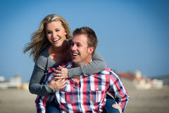 Couple at beach Royalty Free Stock Photo