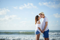 Couple on beach Stock Photos