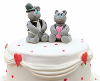 Couple of bears are made of marzipan stock images