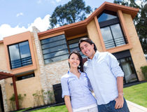 Couple with a beautiful house Stock Photography