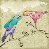 Couple of beautiful love birds Royalty Free Stock Photos