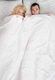 Couple in a bed Stock Image