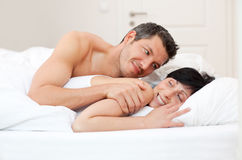 Couple bed Royalty Free Stock Image