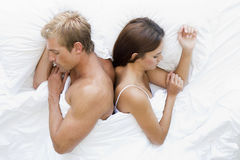 Couple in bed asleep Royalty Free Stock Photography