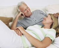 Couple In Bed Stock Photos