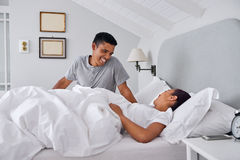 Couple bed Stock Photo