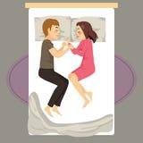 Couple Bed Sleeping Royalty Free Stock Photos