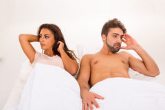Couple in bed Stock Image