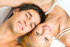 Couple at bedroom Royalty Free Stock Photo