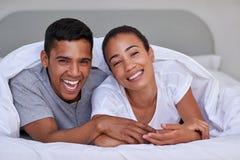 Couple bedroom Stock Photos