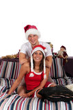 Couple bedroom Xmas morning Stock Image
