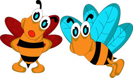 Couple bee cartoon Stock Photo