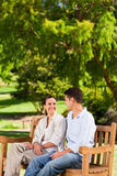 Couple on the bench Royalty Free Stock Image