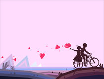 Couple on Bicycle Stock Image