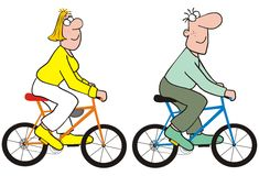 Couple-bicycle Royalty Free Stock Images
