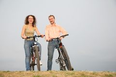 Couple on the bicycles3 Stock Image