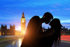 Couple with big ben Royalty Free Stock Images