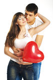 The couple with a big heart Stock Photos