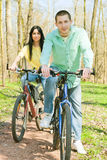 Couple on bike Royalty Free Stock Photos