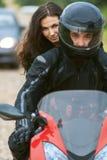 Couple on bike Royalty Free Stock Photos