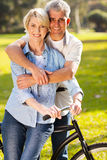 Couple bike outdoors Stock Photo