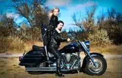 Couple on a bike Stock Photo