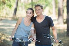 Couple on bike ride Royalty Free Stock Image