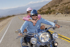 Couple On A Bike Ride Royalty Free Stock Photos