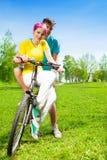 Couple on the bike Stock Photos