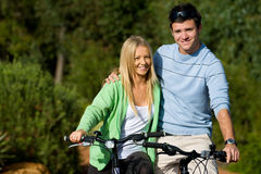 Couple On Bikes Stock Image