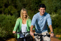 Couple On Bikes Royalty Free Stock Photos