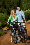 Couple On Bikes Royalty Free Stock Photo