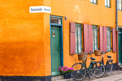 Couple of bikes in Copenhagen Royalty Free Stock Photo