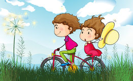 A couple biking Royalty Free Stock Image