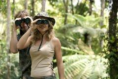 Couple with Binoculars Stock Photos