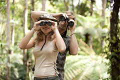 Couple with Binoculars Stock Image