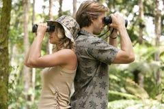 Couple with Binoculars Stock Photography