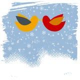 Couple bird flying Royalty Free Stock Photo