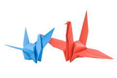 Couple bird made from paper royalty free stock photography
