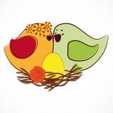 Couple of birdies. Royalty Free Stock Image