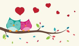 Couple of birds in love. Illustration of Couple of birds in love background vector illustration