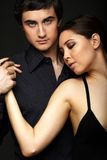 Couple in black Stock Images