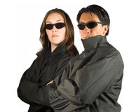 Couple in black Stock Photos