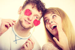 Couple blinded by their love. Royalty Free Stock Images