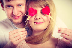 Couple blinded by their love. Stock Photos